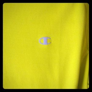 Champion Double Dry LS Neon Yellow Shirt